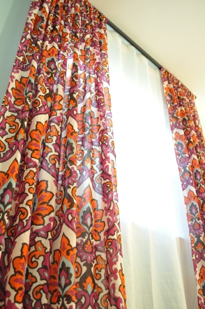 Looking up at curtain