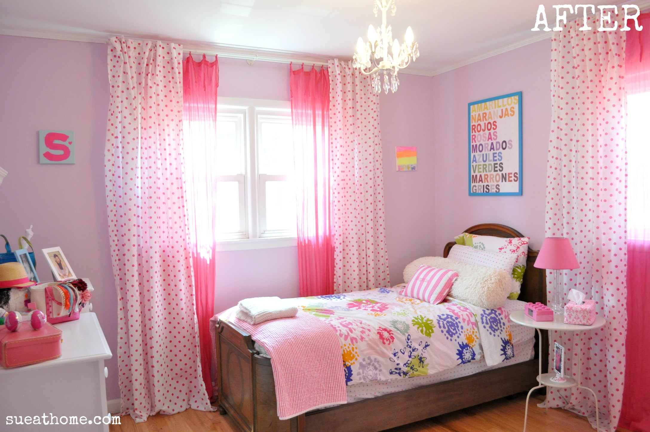 Girly girls room sue at home - Colores habitaciones juveniles ...