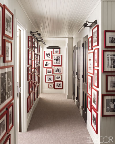 elle decor red frames