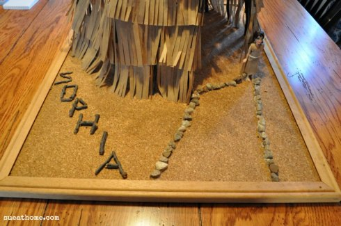 Making A Wigwam For A School Project Sue At Home