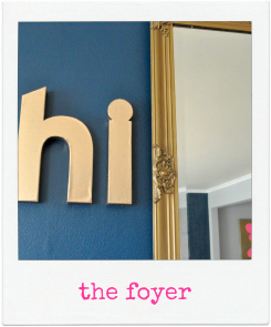house tour: foyer