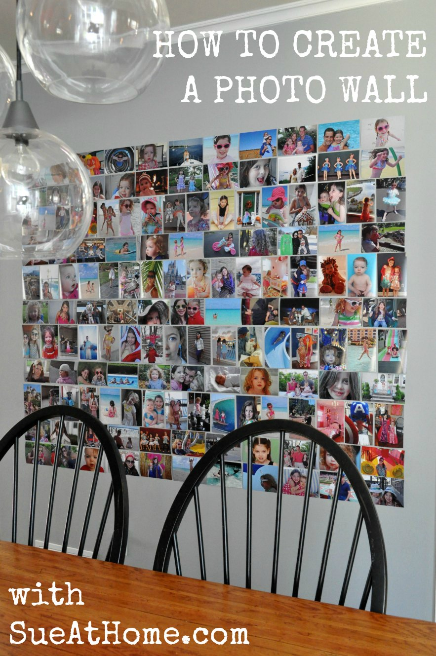 photo wall or my new favorite thing in my house sue at home. Black Bedroom Furniture Sets. Home Design Ideas