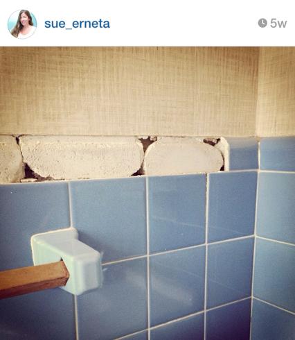 half bath instagream photo
