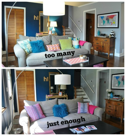 pillows collage text