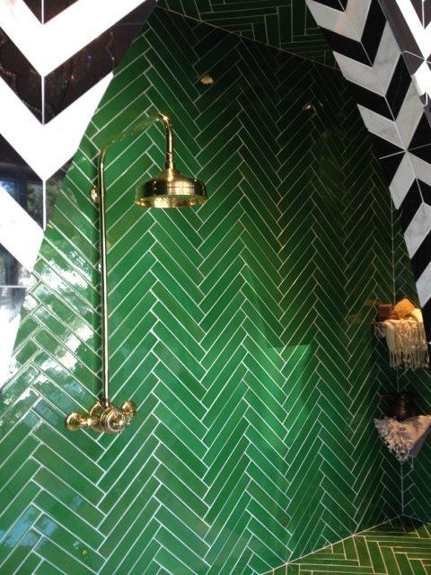 pinterest green tile