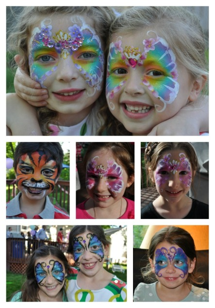 face paint collage