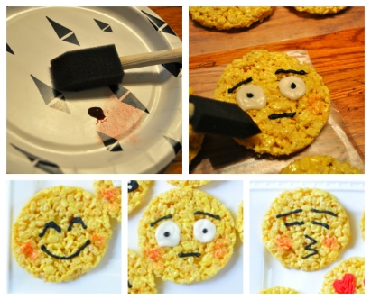 Sue at Home Emoji Rice Krispie Treats blush collage