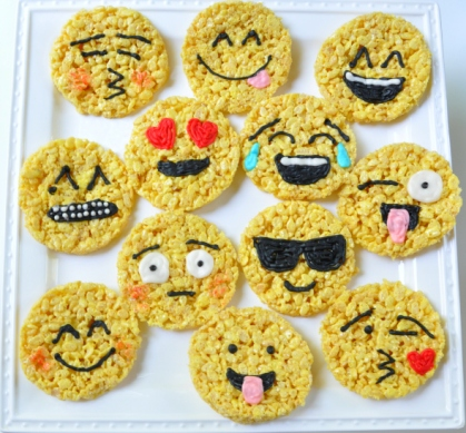 Sue at Home Emoji Rice Krispie Treats main