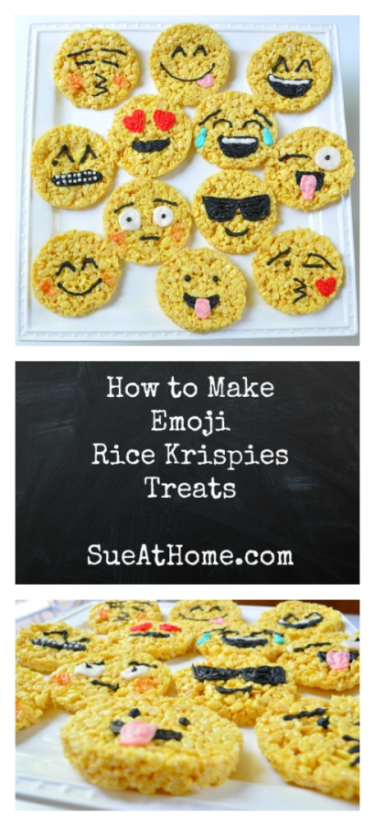 Sue at Home Emoji Rice Krispies Treats Pin