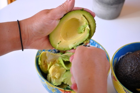Sue at Home Guacamole avocado scoop