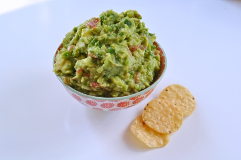 Sue at Home Guacamole bowl with chips
