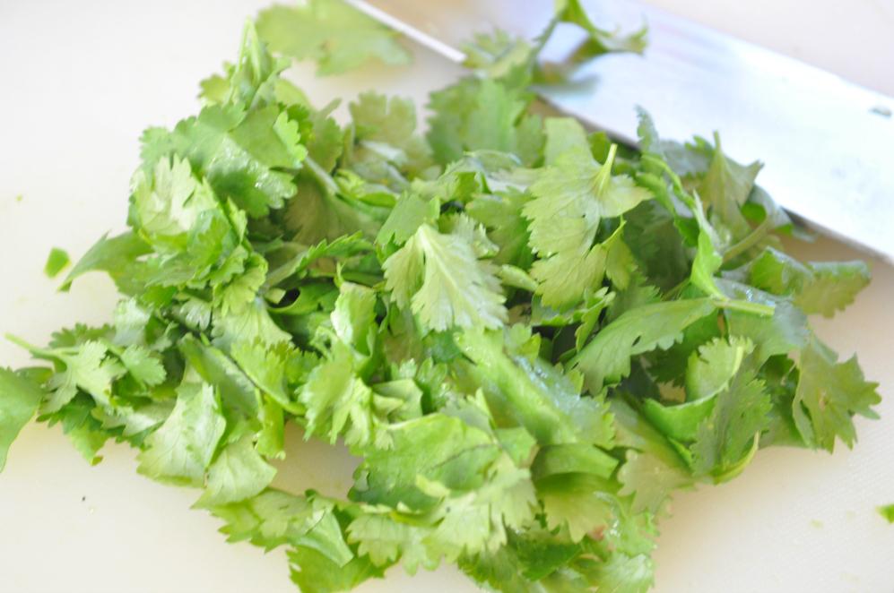 Sue at Home Guacamole cilantro