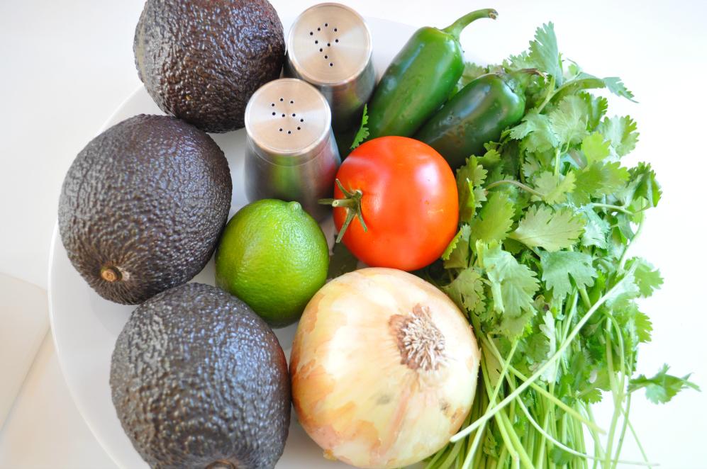 Sue at Home guacamole ingredients