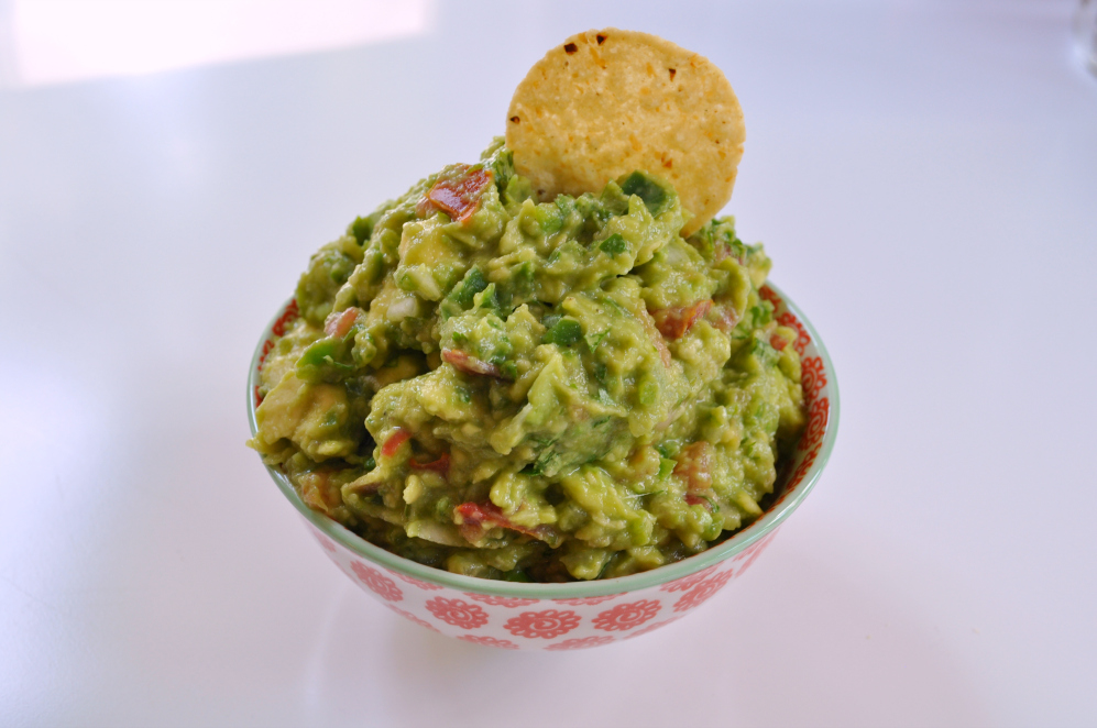 Sue at Home Guacamole with chip